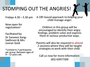 Child Anger – Stomping Out the Angries for 9 – 12 years old