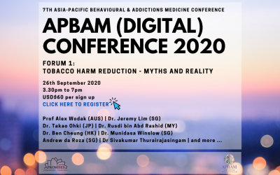APBAM 2020 : Tobacco Harm Reduction – Myths & Reality