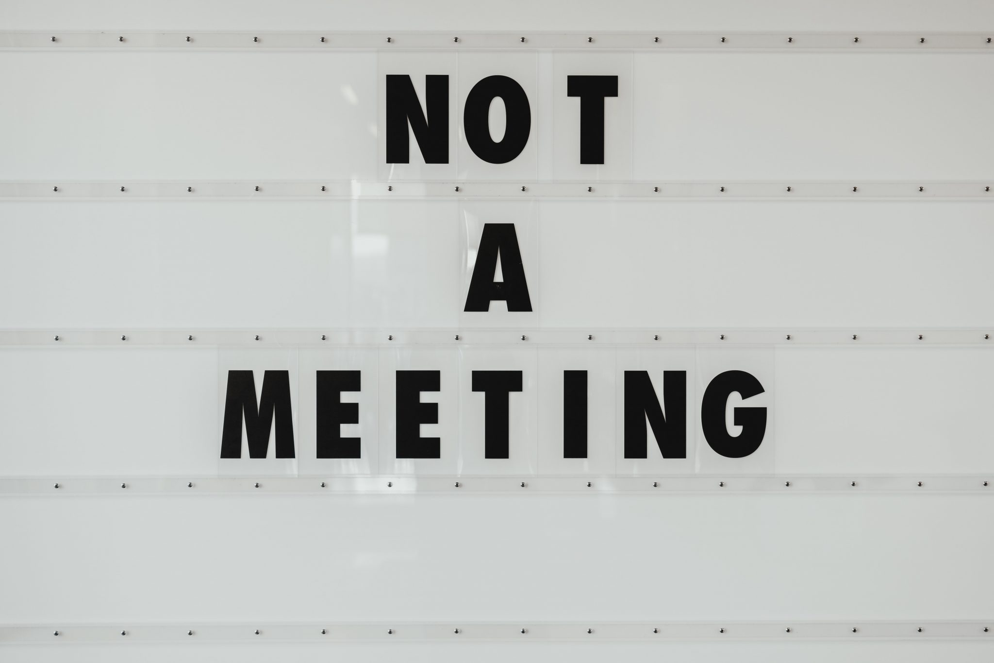 either virtually or in person but it is not a meeting